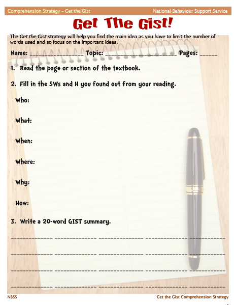 ESL Strategy Spot: Get the Gist