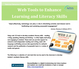 Check out this NBSS resource for web tools to enhance literacy and learning.