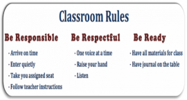 School rules describe specific behaviours and are observable and measurable.