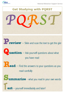 Pqrst study skills